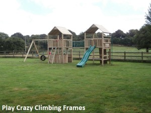Double Tower Climbing Frame Play Crazy