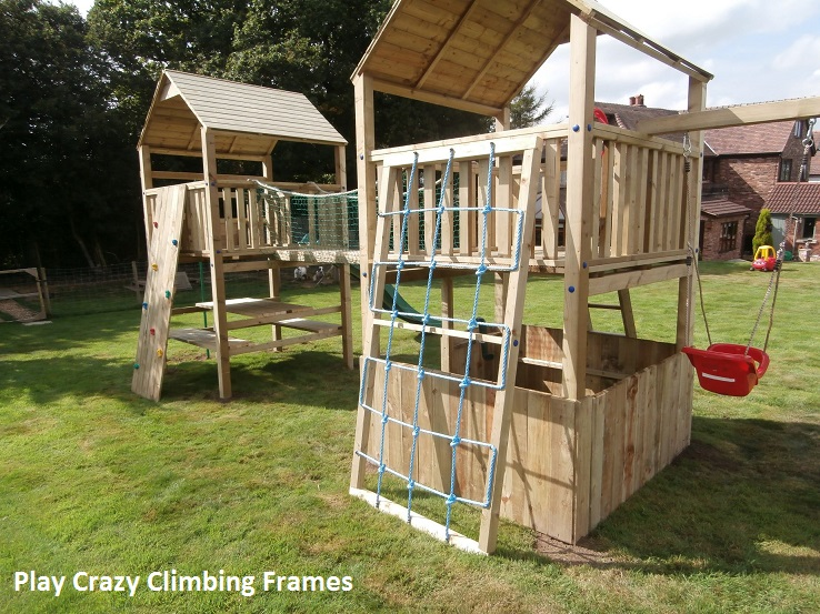 garden play equipment climbing frames playcrazy. Black Bedroom Furniture Sets. Home Design Ideas