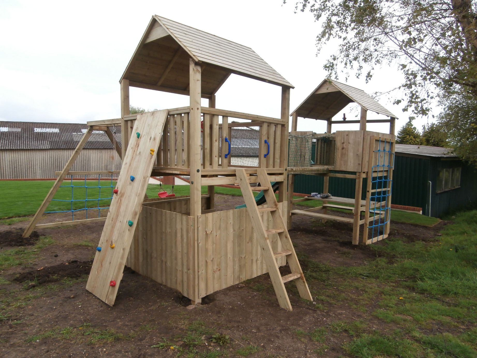 wooden climbing frames made to order playcrazy. Black Bedroom Furniture Sets. Home Design Ideas