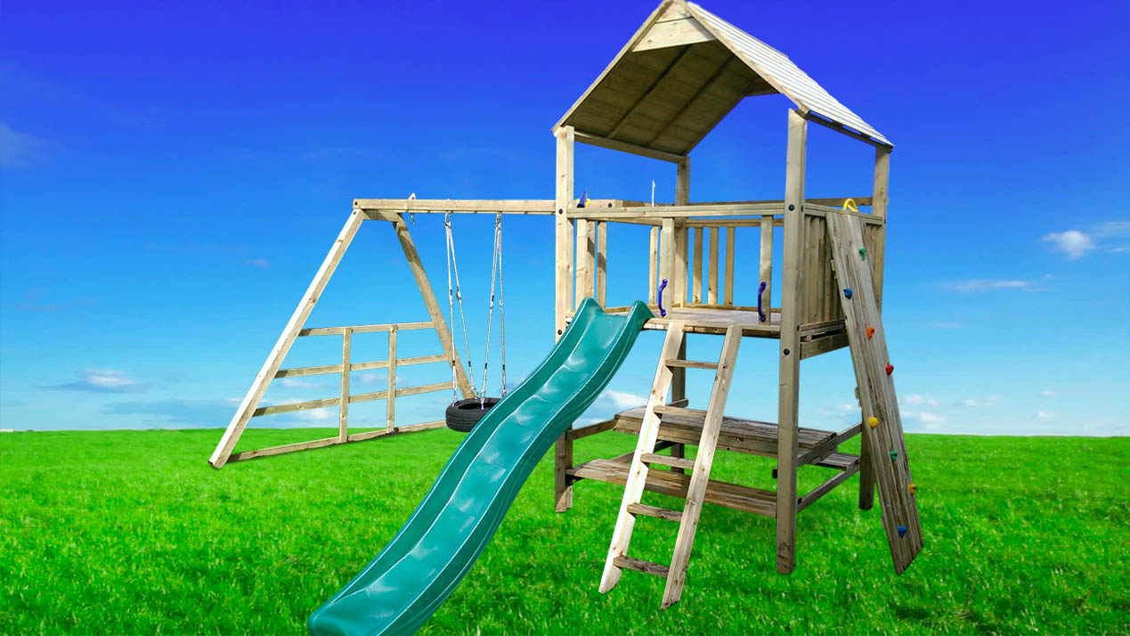 Spud Single Climbing Frame & Bench - PlayCrazy