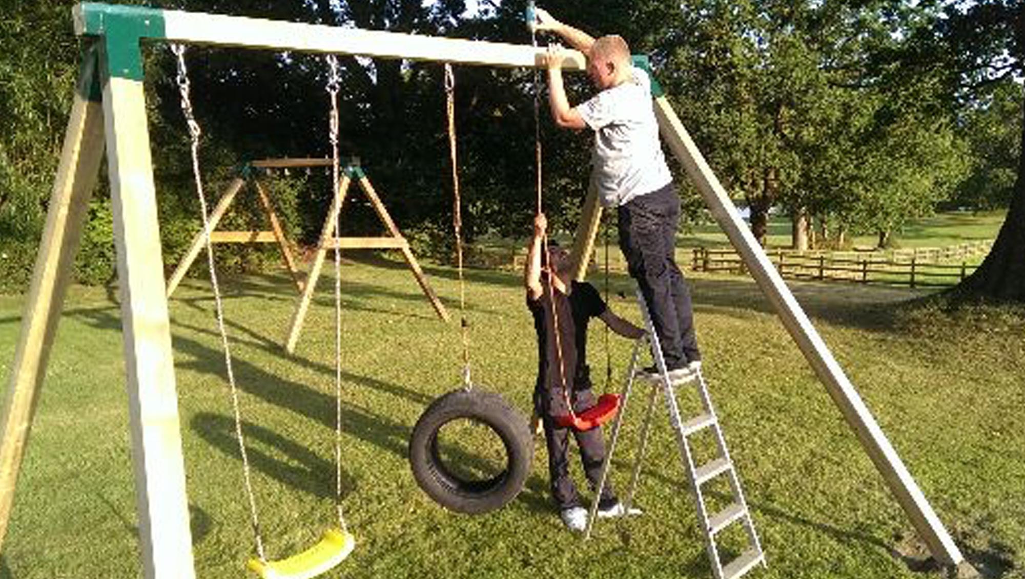Installing a Play Crazy Climbing Frame